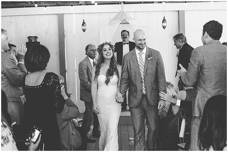 Raleigh black and white wedding candids