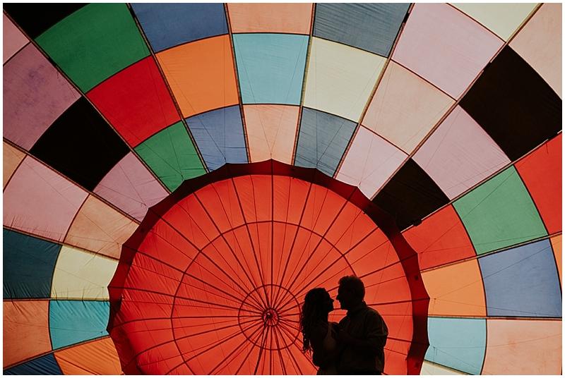 Hot air balloon elopement