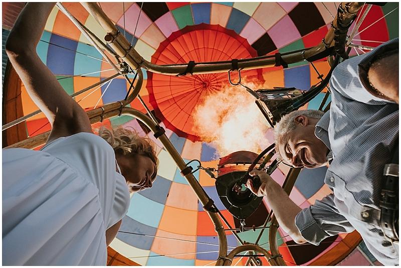 hot air balloon proposal