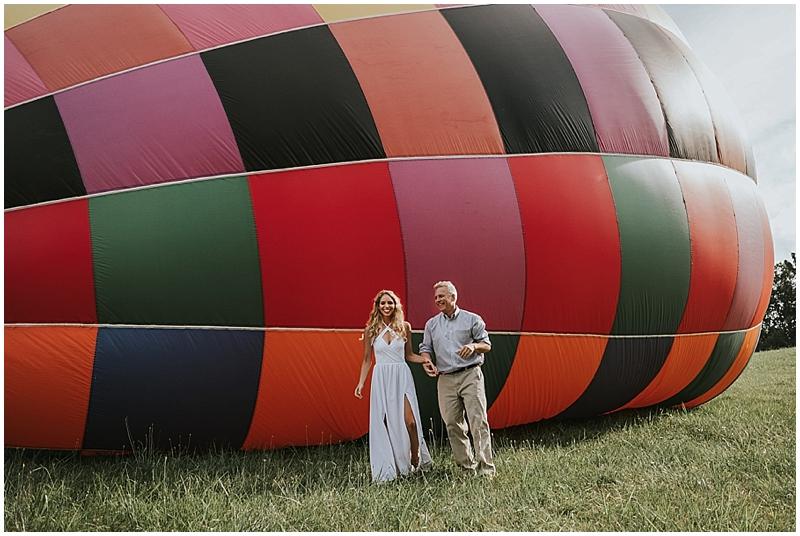 asheville hot air balloon wedding