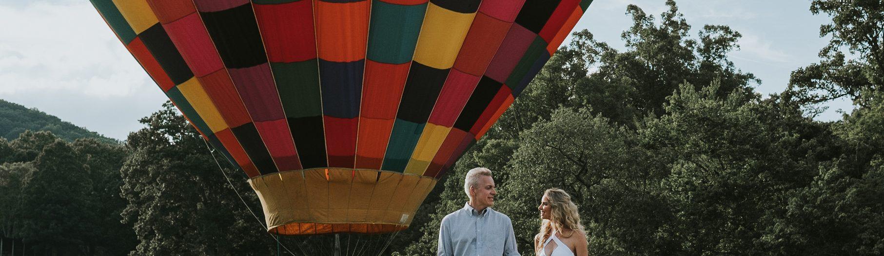 Jill + Dave | Hot Air Balloon Engagement Session