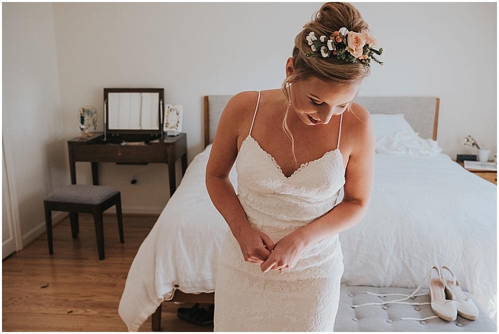 Bride flower tiara