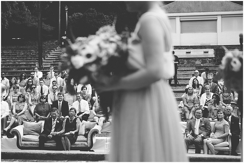 Raleigh North Carolina outdoor wedding ceremony