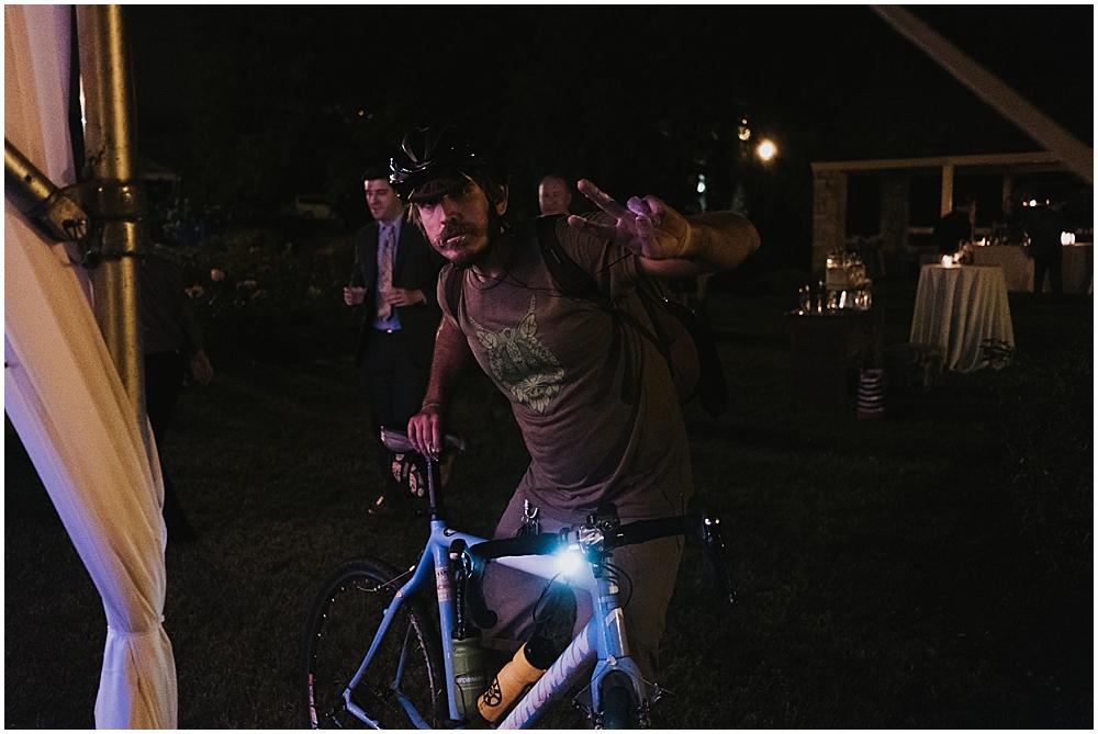 bicyclist wedding crasher