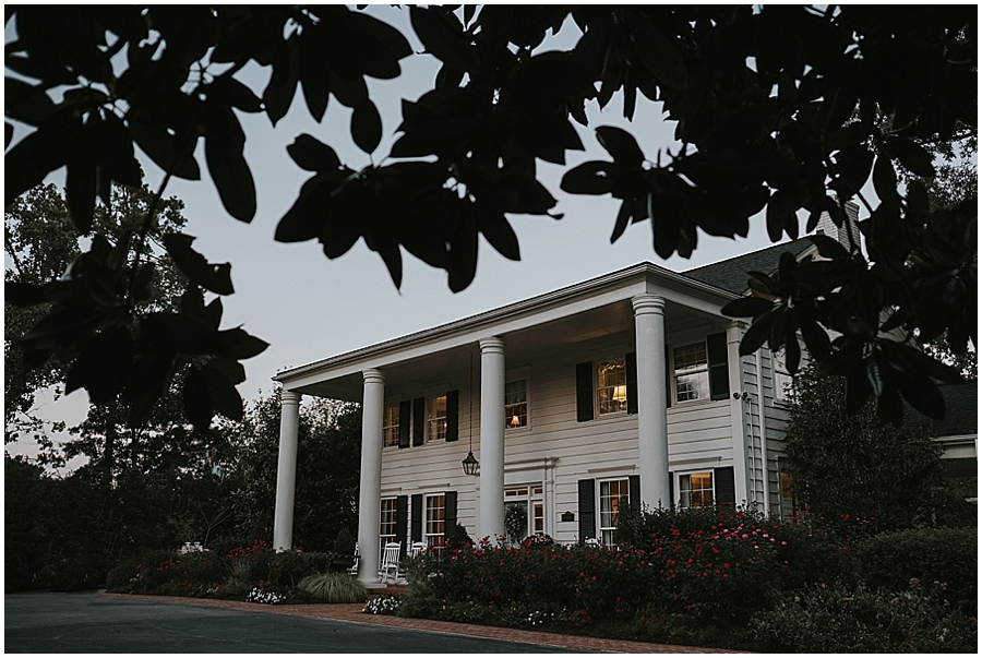 Raleigh NC southern plantation style wedding venue