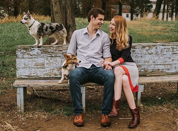 Katelyn + Rick Chapel Hill Engagement Session with all the Animals