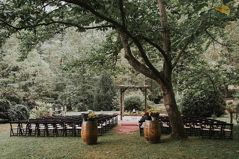 Raleigh NC outdoor wedding ceremony