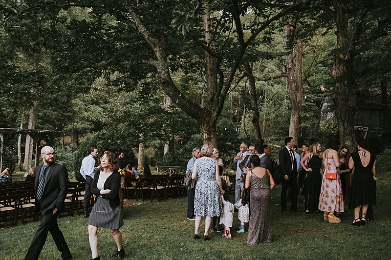 outdoor wedding in forest raleigh north carolina