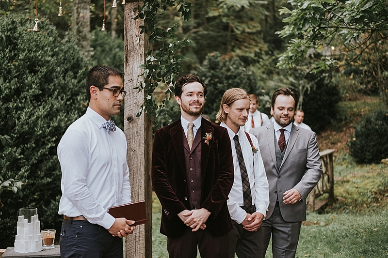 rock quarry farm wedding ceremony