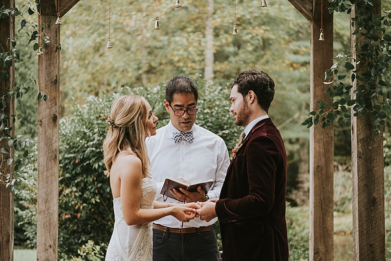 raleigh boho outdoor wedding