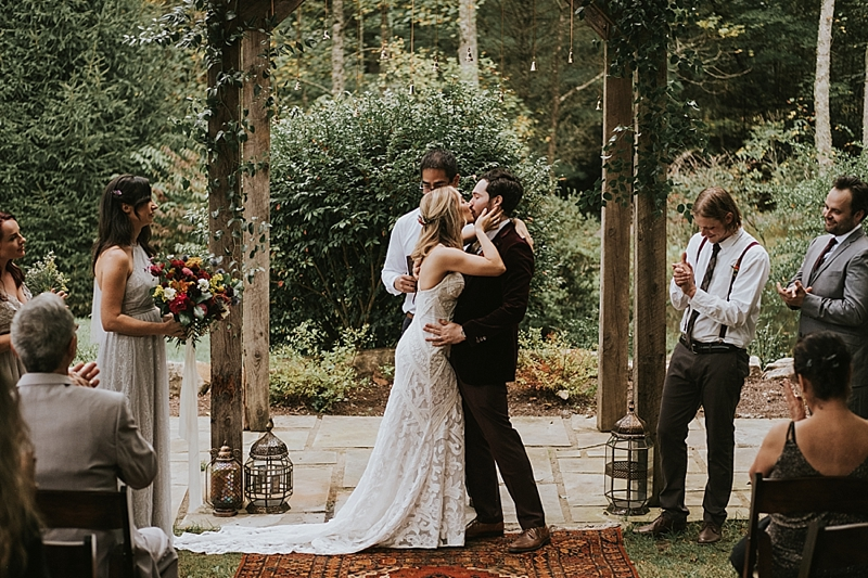bohemian wedding at the Umstead Cary NC