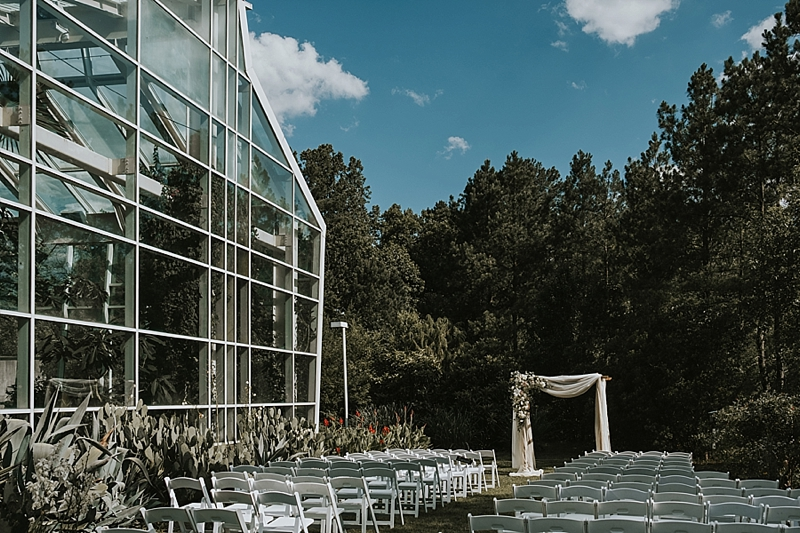Durham NC outdoor wedding ceremony