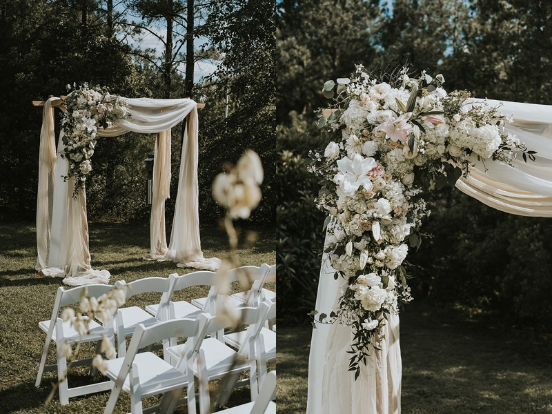 Durham North Carolina outdoor wedding ceremony