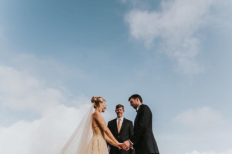 outdoor wedding at Primland resort