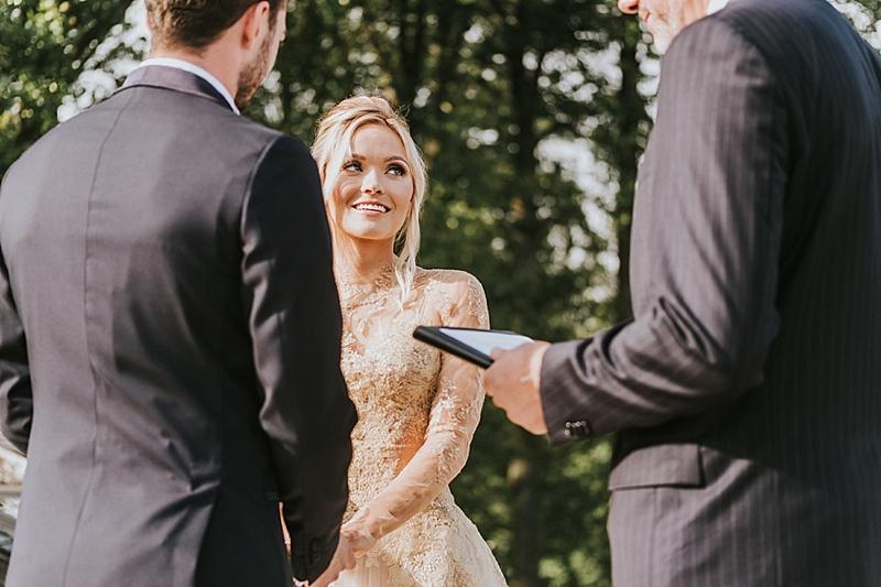 wedding ceremony at Primland