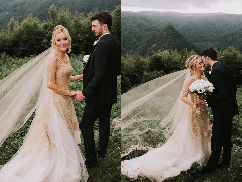 moody mountain couples portraits at Primland