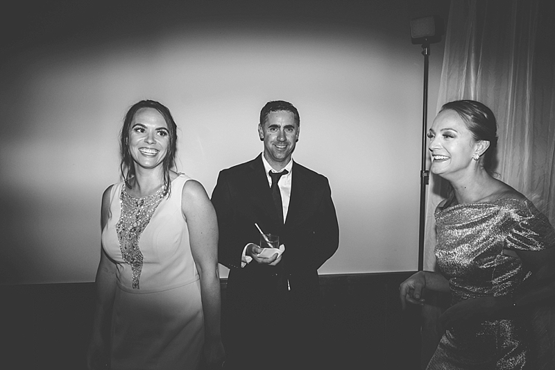black and white wedding candid