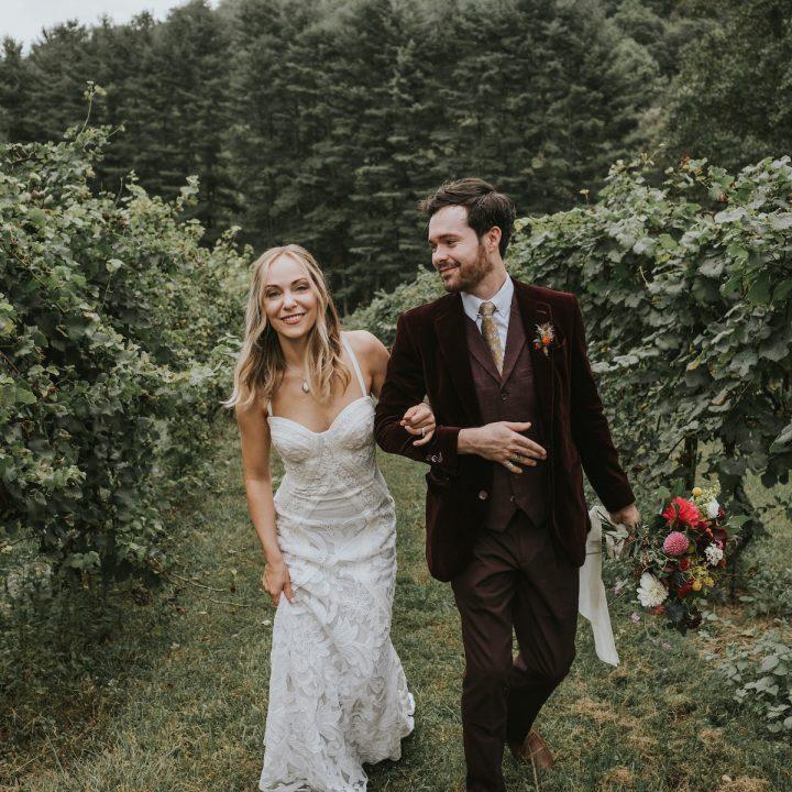 Colorful Autumn North Carolina Wedding | Priscilla  + Tommy