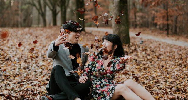 Caroline + Kyung    Moody Autumn Engagement Session
