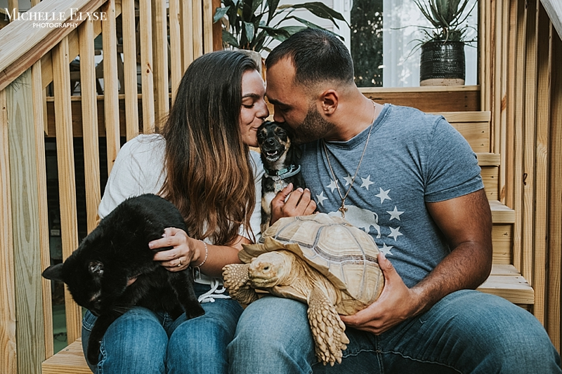 Veterinarian engagement session