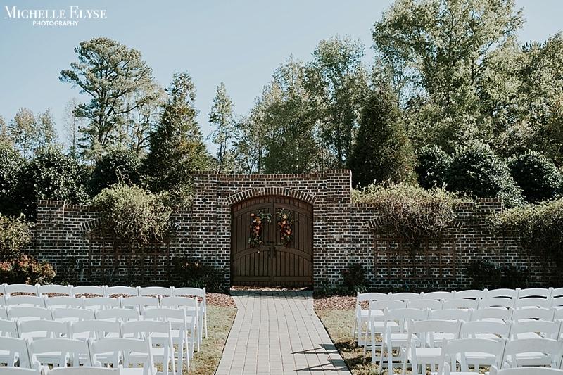 Raleigh outdoor wedding ceremony
