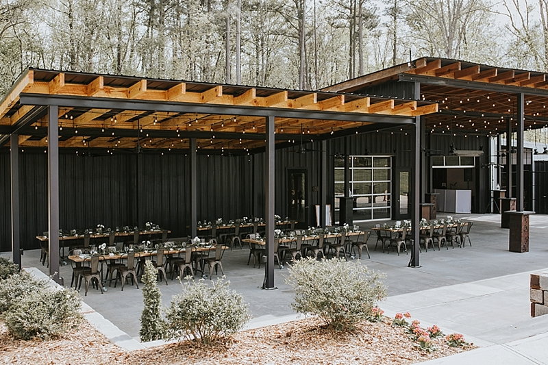 Raleigh outdoor industrial wedding venue