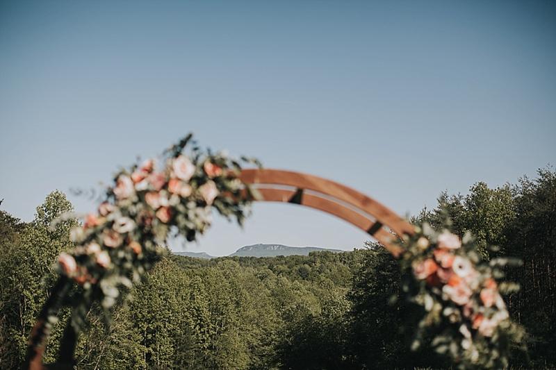 luna's trail farm wedding ceremony
