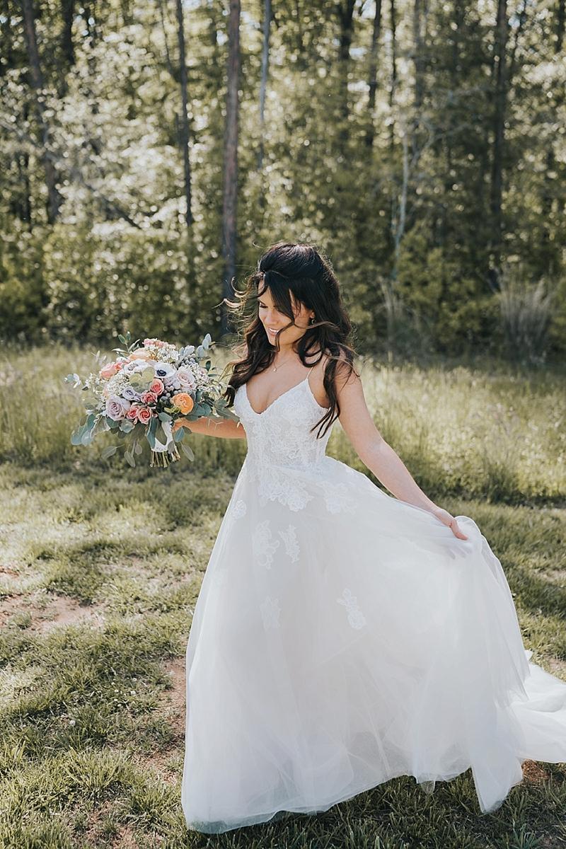 candid bridal portraits winston salem