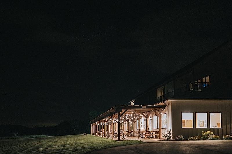wedding reception at lunas trail farm