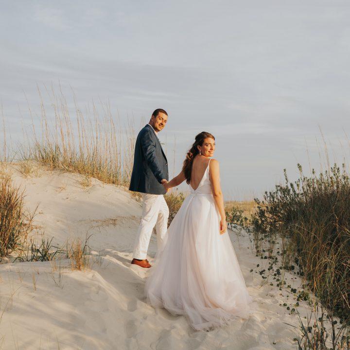 Dog-Friendly Holden Beach Wedding near Wilmington, NC | Juliann + Jon