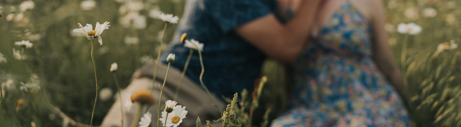 Outdoor Chicago Engagement Session in a Wildflower Field | Sarah + James